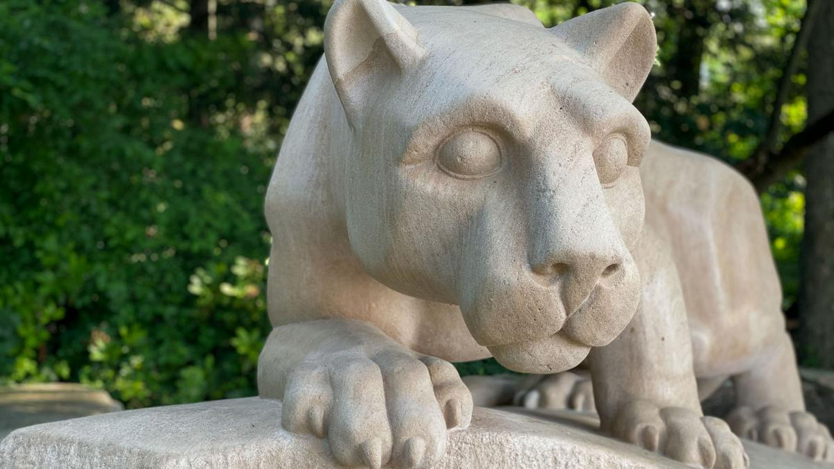 The Nittany Lion Shrine is seen