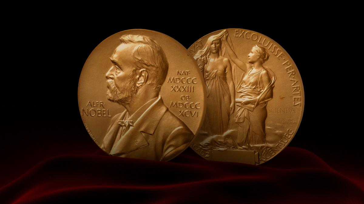 The Nobel Prize is shown