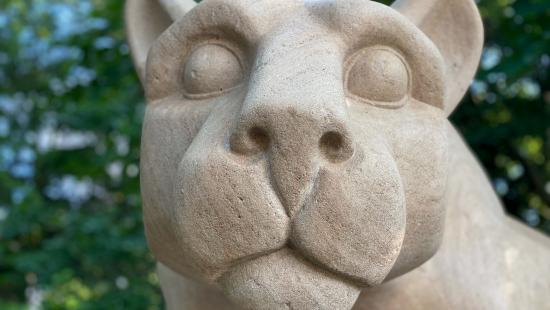 The face of the Nittany Lion Shrine