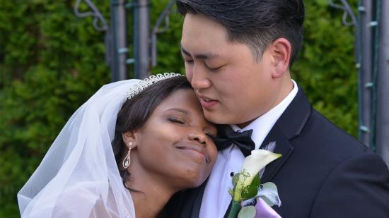 Andy Park and his wife on their wedding day.